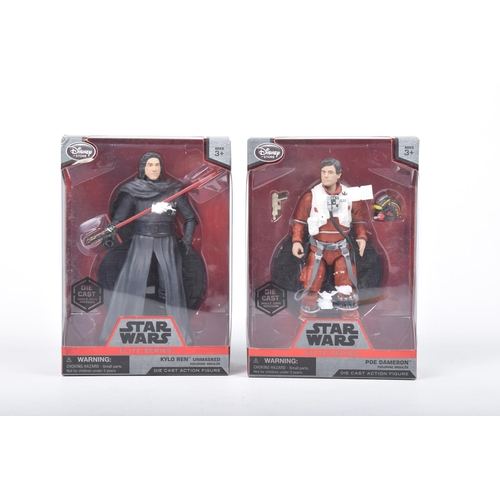 37 - Two boxed Star Wars figures from The Disney Store Elite Series Comprising Kylo Ren and Poe Dameron...