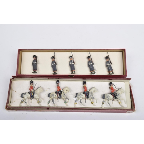 41 - A boxed Britains soldiers set from The Regiments of All Nations Series Comprising grenadiers with bl...