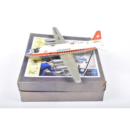 45 - A boxed Schuco 1950s Elektro Radiant 5600 airplane With tinplate body, plastic engines and propeller...