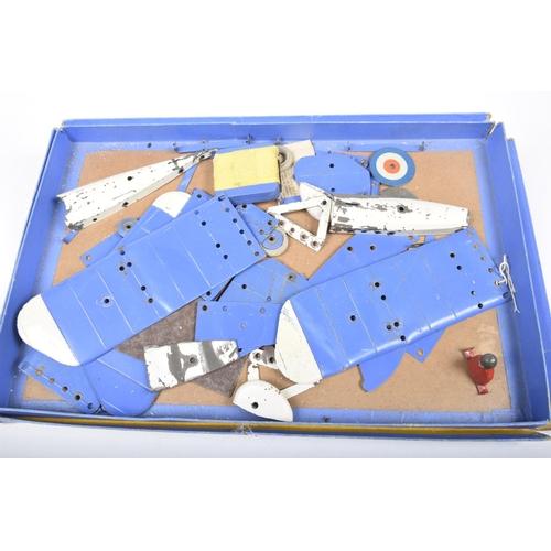 46 - A boxed Meccano aeroplane constructor set no. 1 In blue box - incomplete....