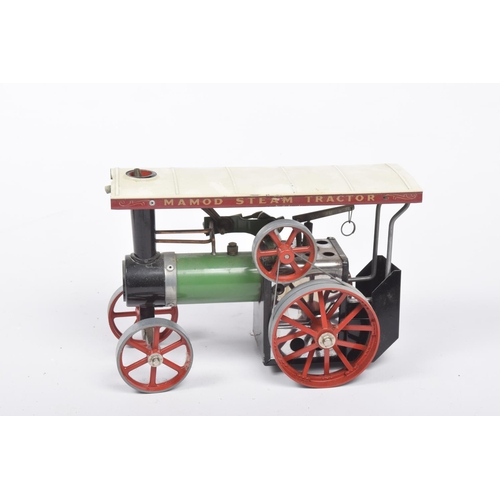 48 - A boxed Mamod TE1A traction engine In green and red, including burner....