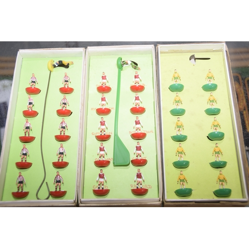 34 - Twenty boxed Subbuteo football teams Comprising Arsenal, Watford/Oxford United, Sheffield Wednesday,...