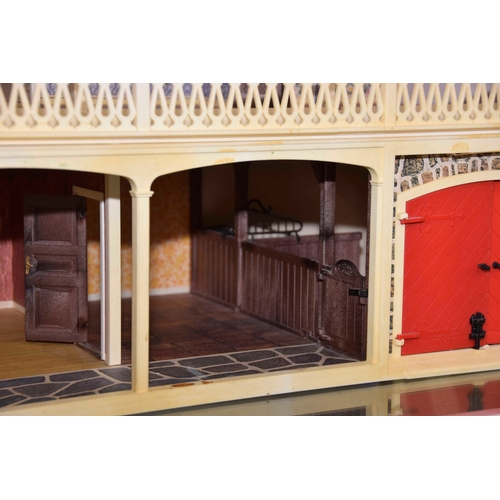 25 - A boxed Lundby of Sweden Super Dolls House Together with a boxed home extension - Please note there ...