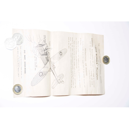 39 - A Frog monoplane dive bomber, low wing monoplant kit In it's original box....