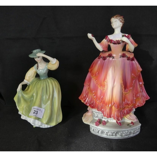 23 - A Royal Doulton figurine 'Buttercup' together with a Coalport figurine English Rose Collection 1993,...
