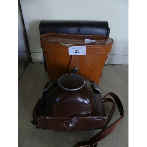 25 - A mixed lot comprising a Zeiss Akon Symbolica camera together with further Orbit binoculars and ultr...