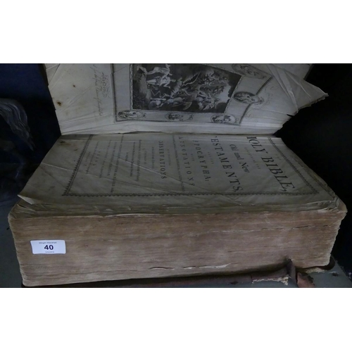 40 - John Harrison, Newgate Street, London, a leather bound holy bible containing the old and new testame...
