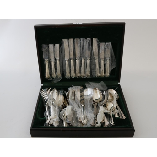 13 - Plated Cased Cutlery Set...