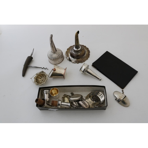 2 - Plated Items to include Wine Funnels, Shot Glasses and Other Silver Plated Items...
