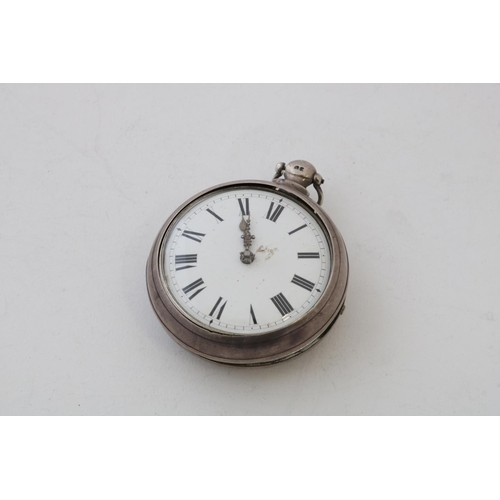 59 - Silver Cased Verge Pocket Watch, London 1904...