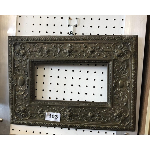 103 - Small Embossed Picture Frame...