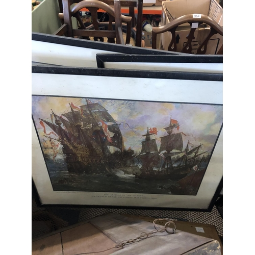 115 - Queen Victoria, Admiral Nelson and Other Prints, largest 59 x 40cm...