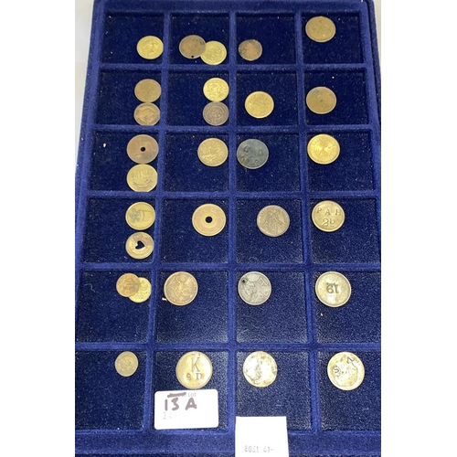 13A - Tray of Tokens and Jetons...