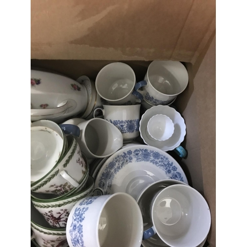 210 - Box of Royal Doulton & Rosenthal and Other Part China Sets...