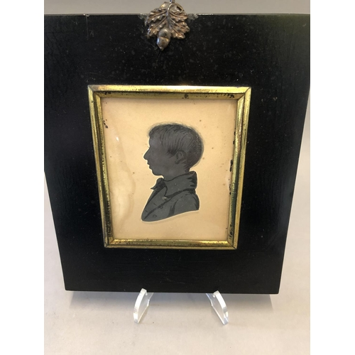 22 - Miniature Portrait of a Gentleman and a Silhouette...
