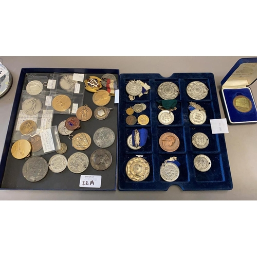 22A - Two Trays of Medallions and Medals...