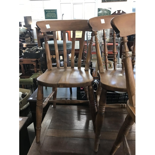 254 - Five Rustic Kitchen Chairs...