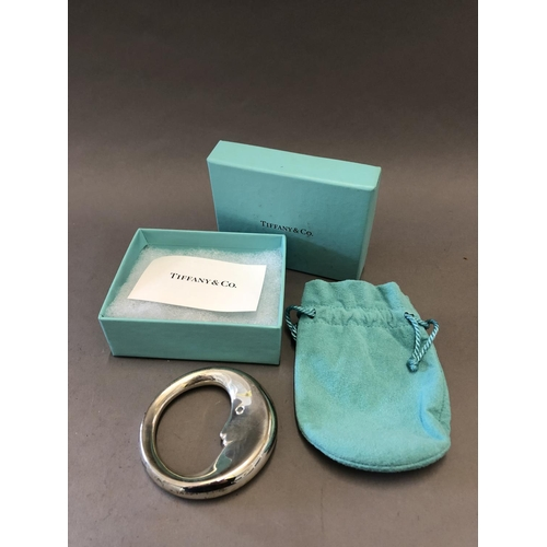 27 - Tiffany & Co. Silver Man-in-the-Moon Baby Rattle, Boxed...
