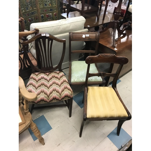 271 - Three Miscellaneous Chairs...