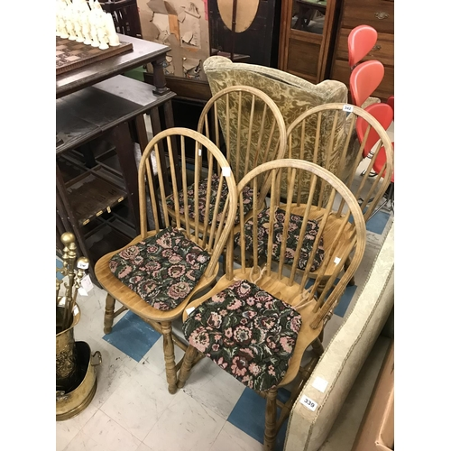 342 - Set of Four Rustic Country Chairs...