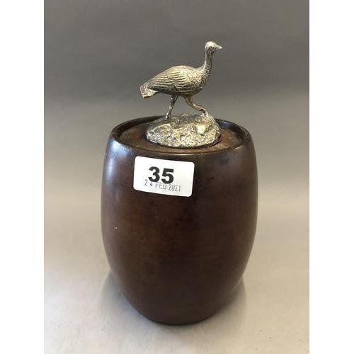35 - Treen Tea Caddy...