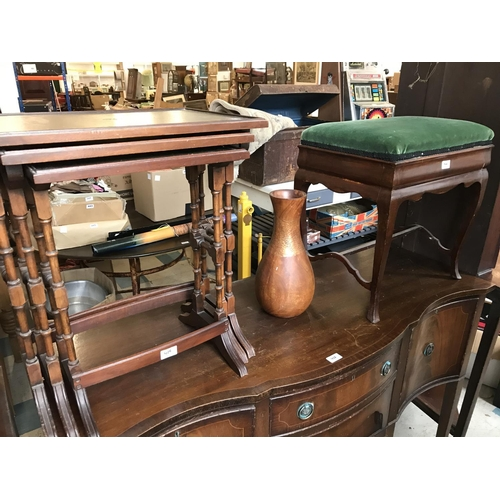 426 - Mixed Lot: Sideboard, Two Corner Cupboards, Piano Stool and a Nest of Tables...