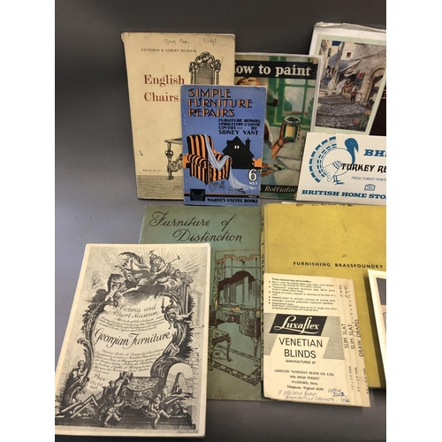 43 - Quantity of Assorted Vintage Furniture Catalogues and Ephemera