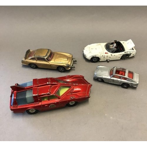 44 - Two Corgi James Bond Cars and Two Other Diecast (A/F)...