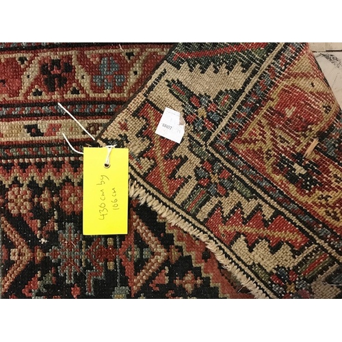 121 - Patterned Runner (430cm x 106cm) and Another (2)...