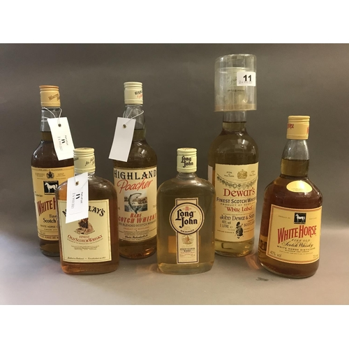 11 - Six Bottles of Assorted Whisky