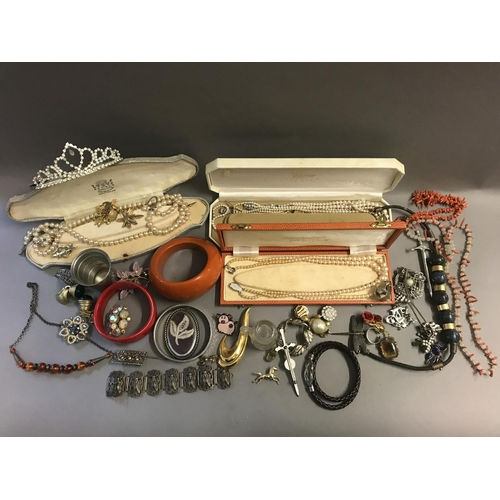 26 - Two Boxes of Costume Jewellery, Silver, Coral, Pearls etc