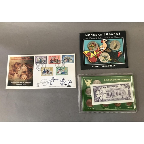 41 - Sudan and Cuba Coin Set and Signed First Day Cover