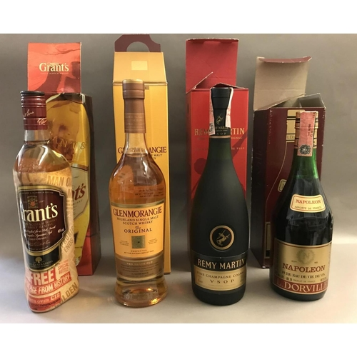 5 - Four Assorted Bottles of Boxed Whisky, Cognac and Brandy