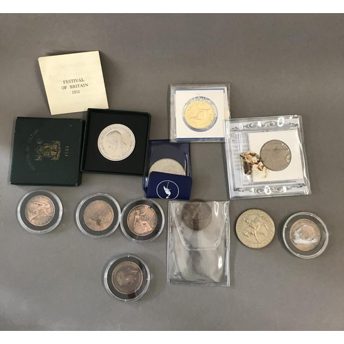 53 - Quantity of Assorted Cased and Loose Commemorative Coins