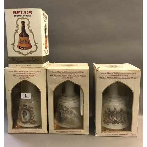 6 - Four Wade Bells Whisky Decanters (Full)