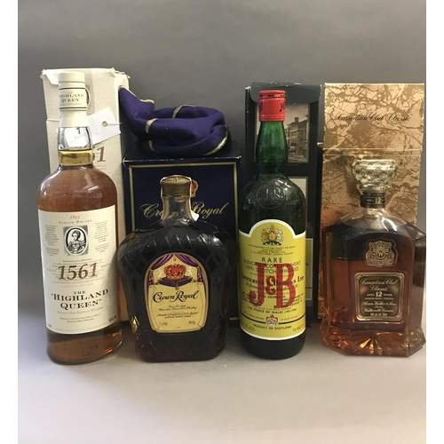 7 - Nine Boxed Bottles of Whisky and Brandy