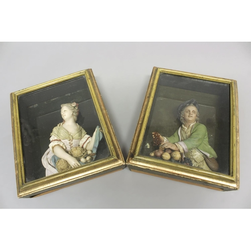 2165 - BERNARD CASPAR HARDY (1726-1819): PAIR OF RELIEF SCULPTURES. A pair of late 18th or early 19th centu...