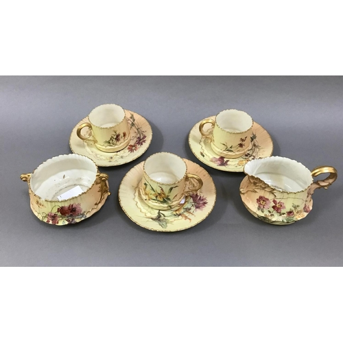 5 - Quantity of Assorted Royal Worcester Blush Ivory Items, Tea Cups, Saucers etc