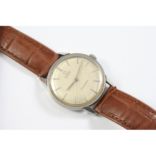 1140 - A GENTLEMAN'S STAINLESS STEEL AUTOMATIC SEAMASTER WRISTWATCH BY OMEGA the signed circular dial with ...