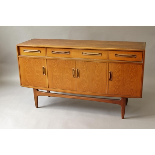 1520 - G PLAN 'FRESCO' SIDEBOARD a teak sideboard with three drawers to the top section, the long drawer wi...