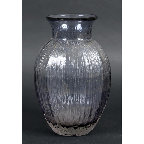 1545 - WHITEFRIARS TULIP VASE Pattern No 9827 and circa 1974, a textured vase in the Tulip design in the li...