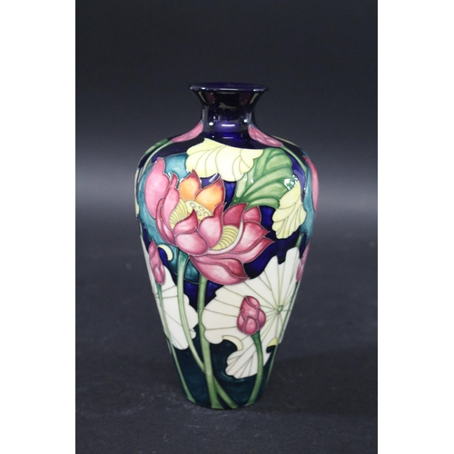 1561 - MOORCROFT LIMITED EDITION VASE - LOTUS INDIA a tapering vase in the Lotus India design, No 46, and w...