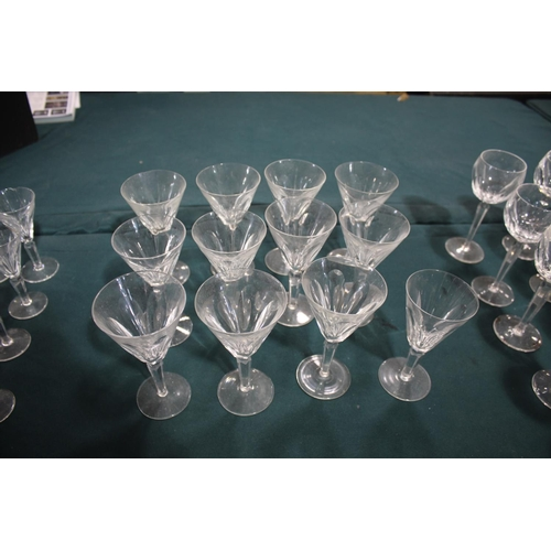 1617 - LARGE SUITE OF TABLE GLASS - WATERFORD a large suite of table glass in the Sheila design, including ...