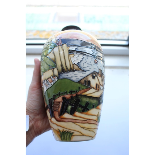 1549 - MOORCROFT LIMITED EDITION - SMUGGLERS COVE a limited edition vase in the Smugglers Cove design, desi...