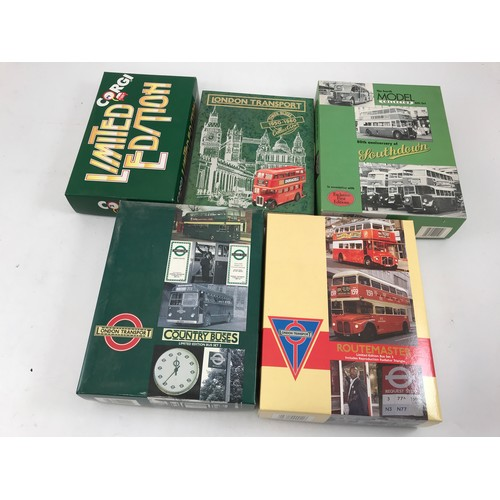 408 - 5 EFE AND CORGI LIMITED EDITION CLASSIC BUS PACKS INCLUDING LONDON COUNTRY BUSES, FOURTH MODEL COLLE...