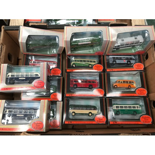 427 - 14 BOXED EFE MODEL BUSES, SINGLE DECK VEHICLES INCLUDING BEA, BEDFORD OB, ROYAL BLUE, BRISTOL VEHICL...