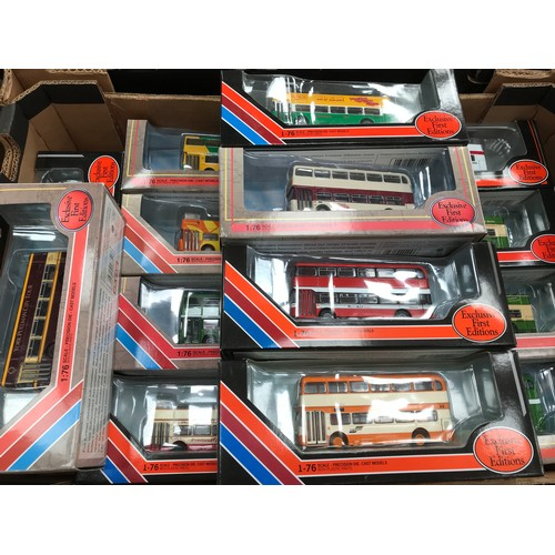 456 - 14 MODERN EFE MODEL BUSES IN GOOD BOXED CONDITION MOSTLY BRISTOL VR FAMILY WITH DIFFERENT OPERATORS ...