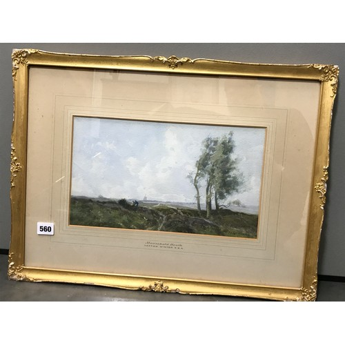 573 - WILLIAM TATTON WINTER  (1855-1928) WATERCOLOUR 'MOUSEHOLD HEATH' APPROX. 34 X 20 CM...