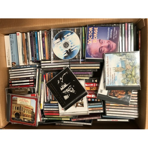 1236 - LARGE BOX OF ASSORTED MUSICAL CDS...