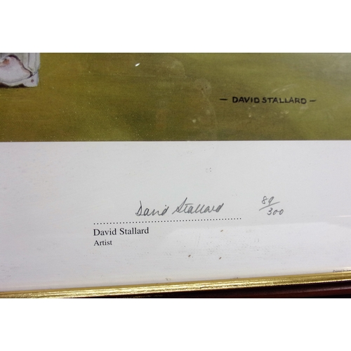 613 - FRAMED PRINT CENTURY OF CENTURIES CELEBRATING GRAEME HICK'S 100 HUNDREDS WORCESTER 31.5.88 SIGNED BY...
